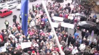 """Protest în fata Primariei Chisinau: ,,Vrem demisia primarului"""""""