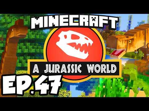 Jurassic World: Minecraft Modded Survival Ep.47 - EMERALD ELEVATOR!!! (Dinosaurs Modpack)
