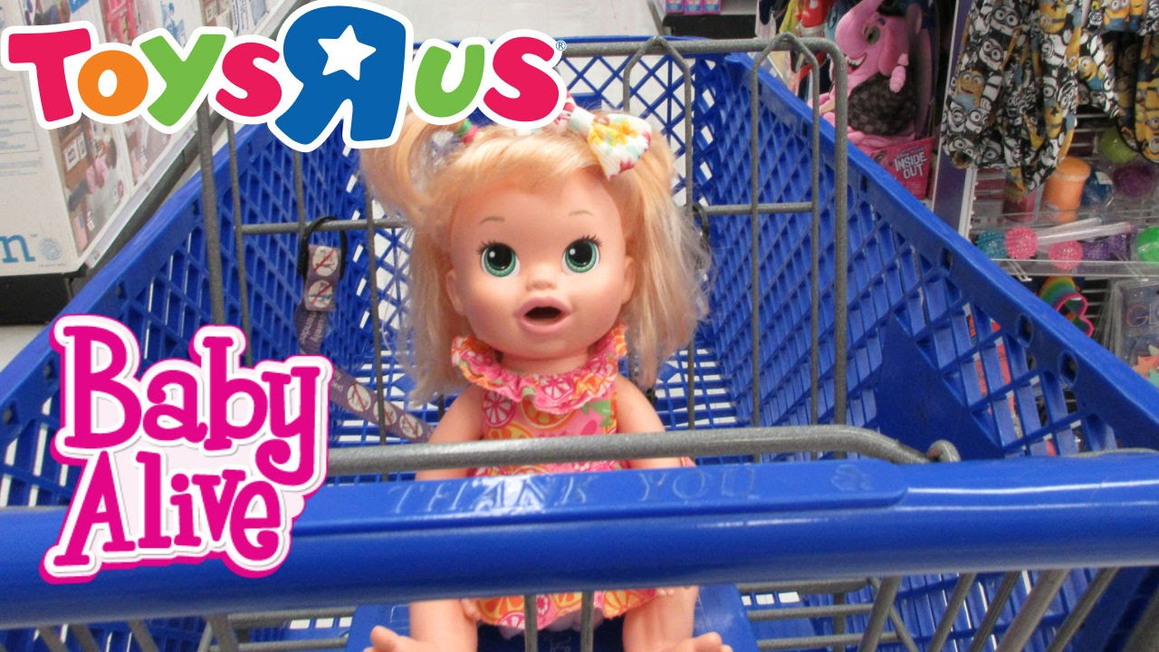 Baby Alive: Toys R Us Outing NEW BABY ALIVE - YouTube