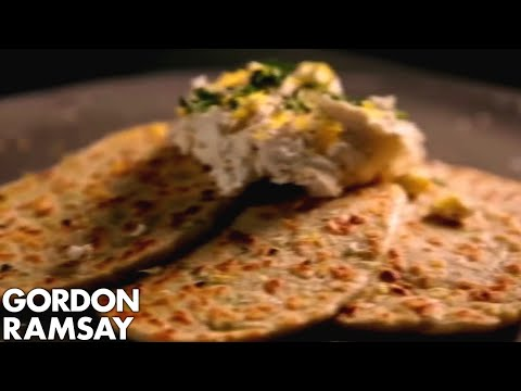 Grilled Carrot Flatbread with Ricotta and Herbs