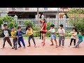 Kids Go To School Chuns learn Dance Kids play Tug the strength of the children