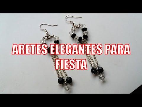 34667a79a1d2 Aretes Elegantes para fiesta - Bisutería Fina (Tutorial paso a paso ...