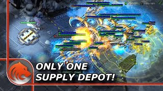 StarCraft 2: Only 1 Supply Depot vs Top 3 NA Protoss!