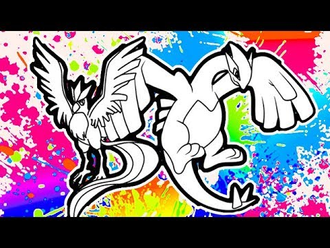 Articuno and Lugia Pokemon coloring pages I Fun Colouring videos for ...