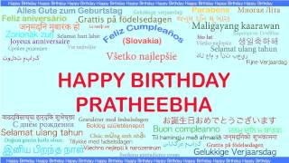 Pratheebha   Languages Idiomas - Happy Birthday