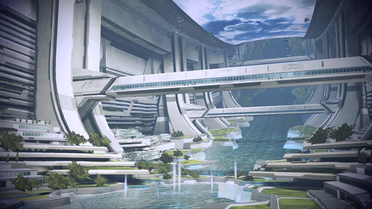 3d Interior Wallpaper Hd Mass Effect 3 The Beautiful Citadel Dreamscene Video