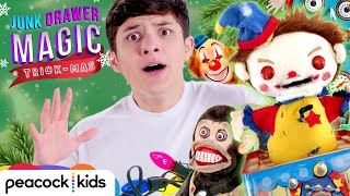 Evil Christmas Toys Attack! | JUNK DRAWER MAGIC TRICKMAS