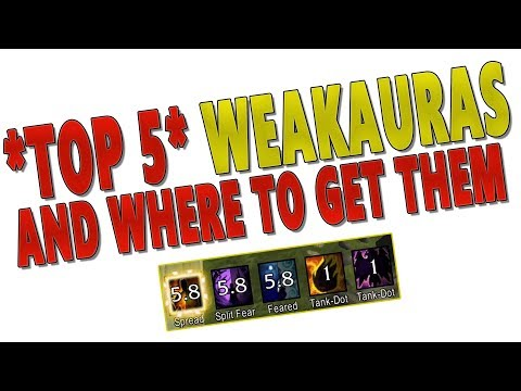 BEST TOP 5 WEAKAURAS IN LEGION! Where & How to Get Weak Auras 2? Biggest WA Database (WAGO.IO)