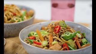 Caramel Pork with Soy and Sesame Noodles | Classic Recipes