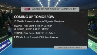 Just. 2019 World  Ndoor Bowls Championships Day 11 Session 4