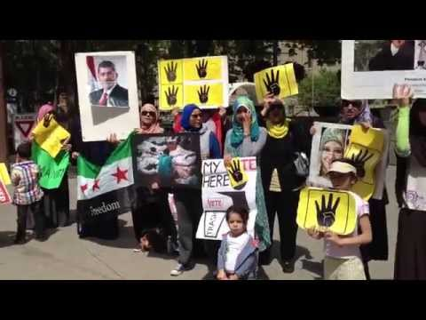Calgary Protest 2014-June-8 Against Fake Elections in Egypt & Syria
