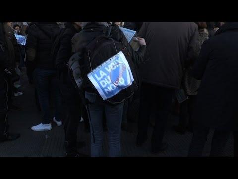 Manifestation de salariés de la Voix du Nord