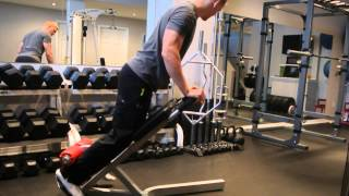 45degree back extension 1db or bodyweight