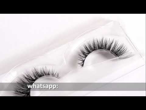 Top quality 3d mink eyelash, private label strip lashes (D105)