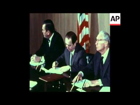 SYND 22-3-73 USSR / US SIGN AGREEMENT OVER LOAN FOR INDUSTRY