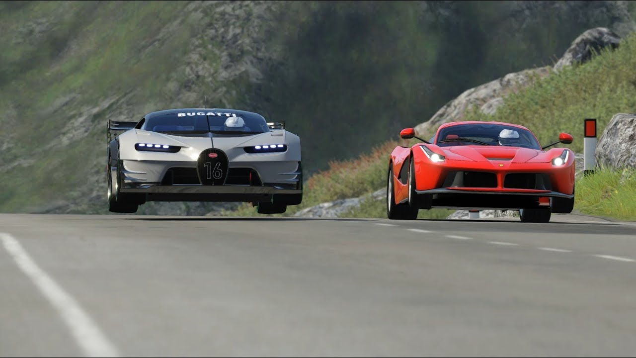 Bugatti Vision GT vs Ferrari LaFerrari at Highlands