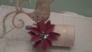 Christmas Name Place Card Holder Setting