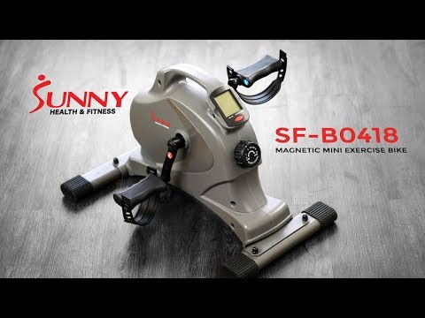 Sunny Health & Fitness SF-B0418 Magnetic Mini Exercise Bike