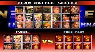 Tekken 3 PCSXR Team Battle Playthrough