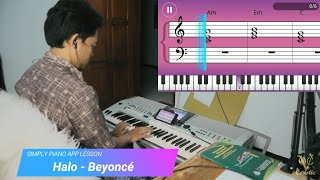 Halo - Beyonce   Simply Piano App Lesson Day 32