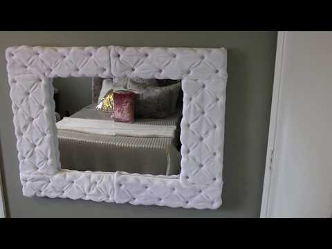 DIY Tufted Mirror!! Dollar Tree