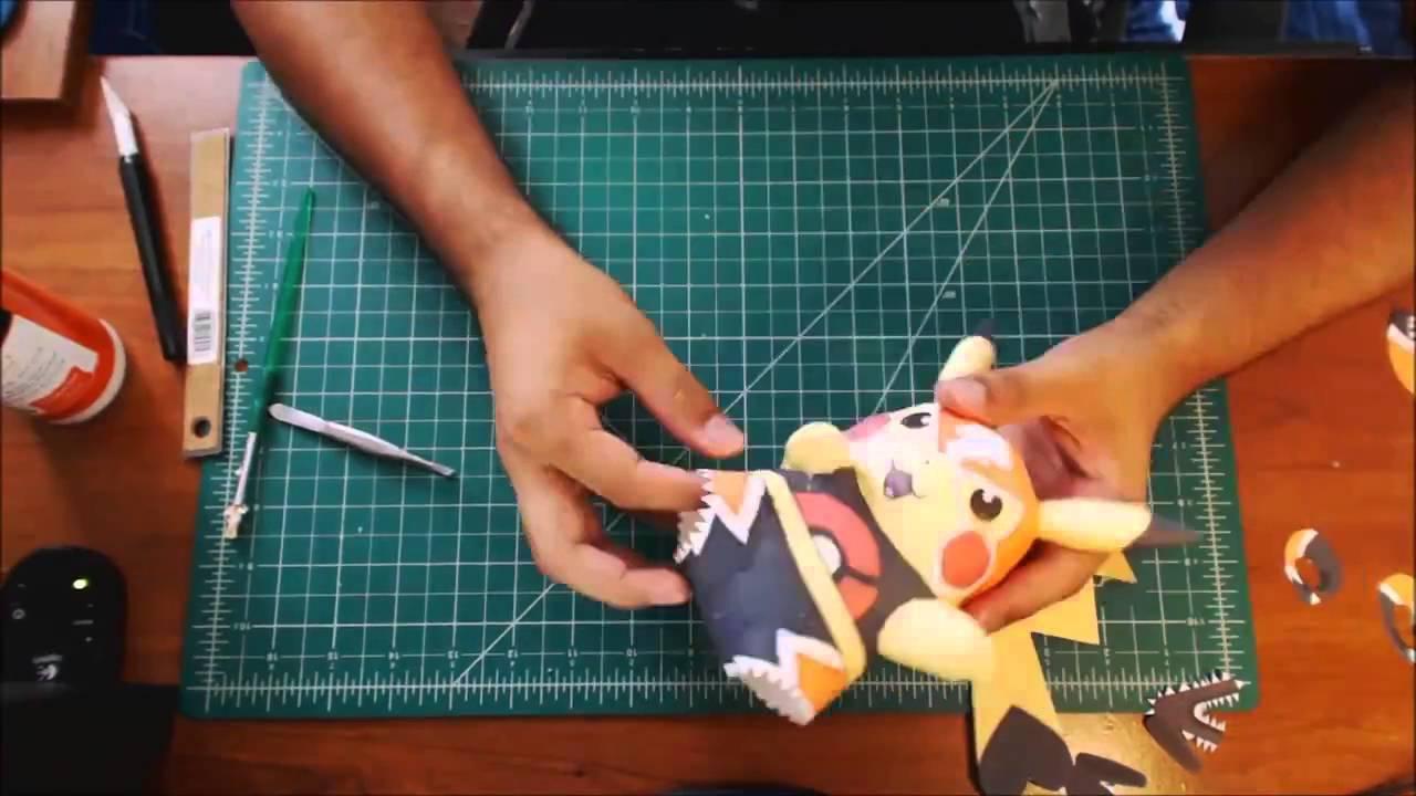 Pokemon Papercraft Pikachu Libre