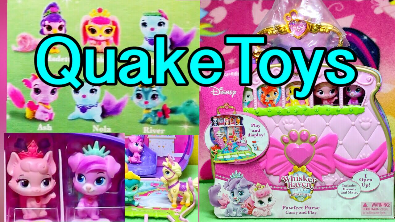 30d728f7be0 Disney Princess Palace Pets Whisker Haven Pawfect Purse Carry and Play Set  New Pets Shown QuakeToys