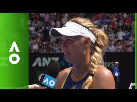 Caroline Wozniacki on court interview (4R)   Australian Open 2018