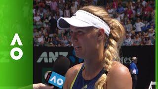 Caroline Wozniacki on court interview (4R) | Australian Open 2018