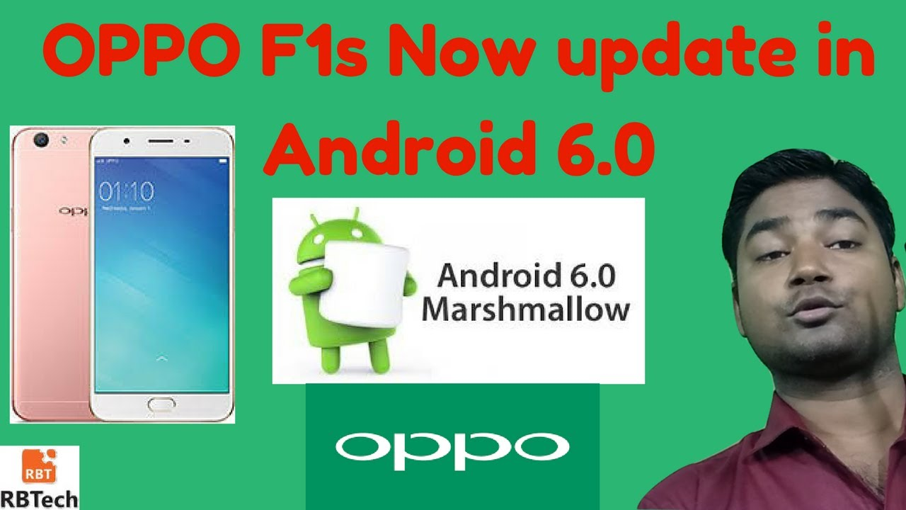 OPPO F1s Update Now available Android 6 0 Marshmallow update in india watch  how to do it #RB-tech