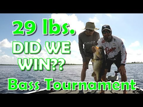 Lake Kissimmee Tournament Bass Fishing - We Caught A GIANT!
