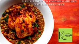 Harissa Roasted Cornish Game Hen With Chickpea Stew (stevescooking)