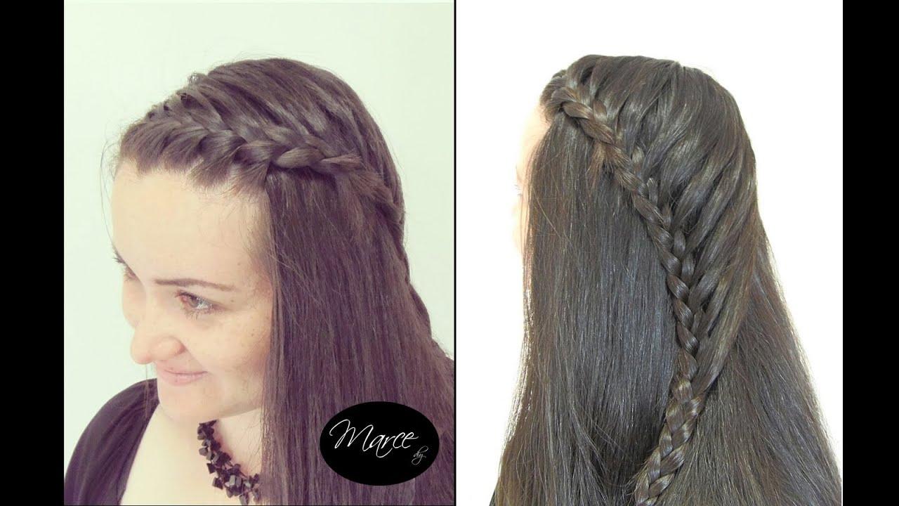 Trenza cosida peinado rapido y facil con trenza lace - Trenzas peinados faciles ...