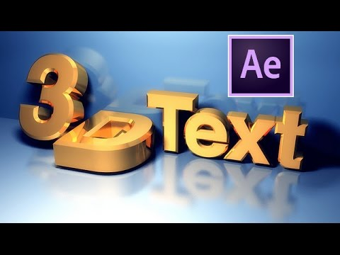 After Effects Tutorial Cc2018 Create 3d Text Quickly