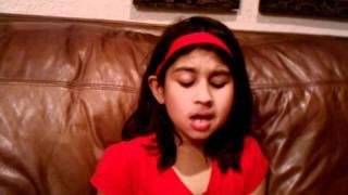 Lavina singing Uzbekistan song