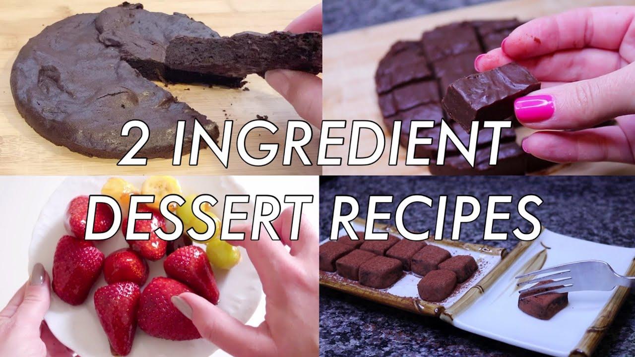 Easy 2 Ingredient Dessert Recipes Quarantine Dessert Recipes To Make At Home 2020 Youtube
