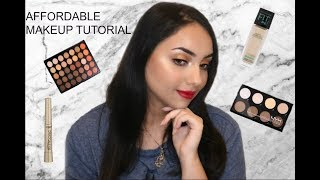 FULL FACE OF AFFORDABLE/ DRUGSTORE MAKEUP TUTORIAL | Makeup By Aida