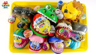 Full box of toys teeth toy Surprise Egg nursery rhymes play for kids