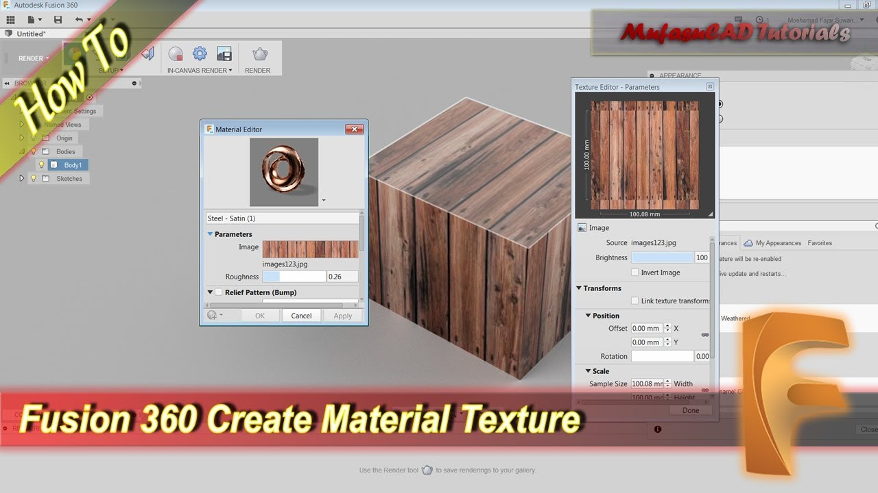 Fusion 360 Create Your Own Material Texture