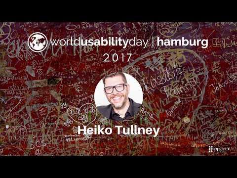 World Usability Day (WUD) Hamburg 2107 - Heiko Tullney