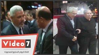 جمال عبد الحميد وأيمن يونس وأشرف قاسم وأبو رجيلة فى عزاء شقيق هشام يكن
