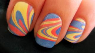 One of cutepolish's most viewed videos: Water Marble Nail Art