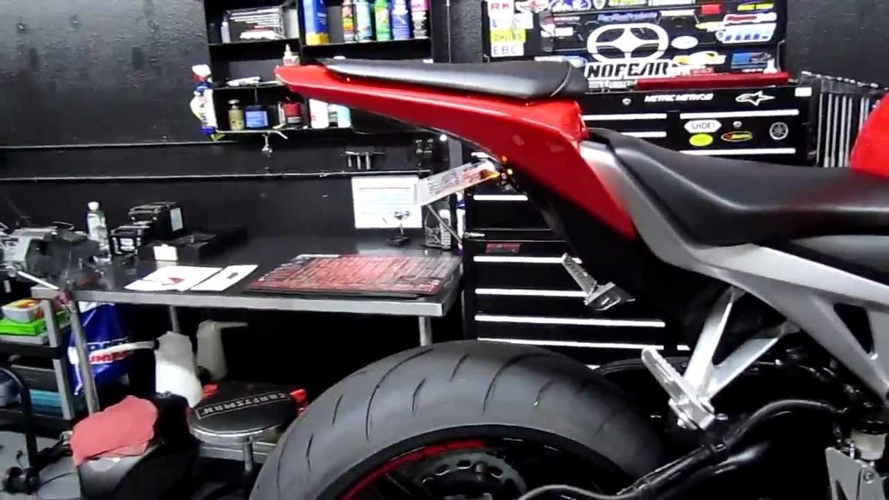 2008 Honda Cbr1000Rr >> Taylor made as Fender eliminator CBR1000RR 08 09 10 - YouTube