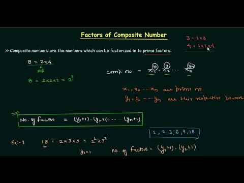 a composite number has how many factors