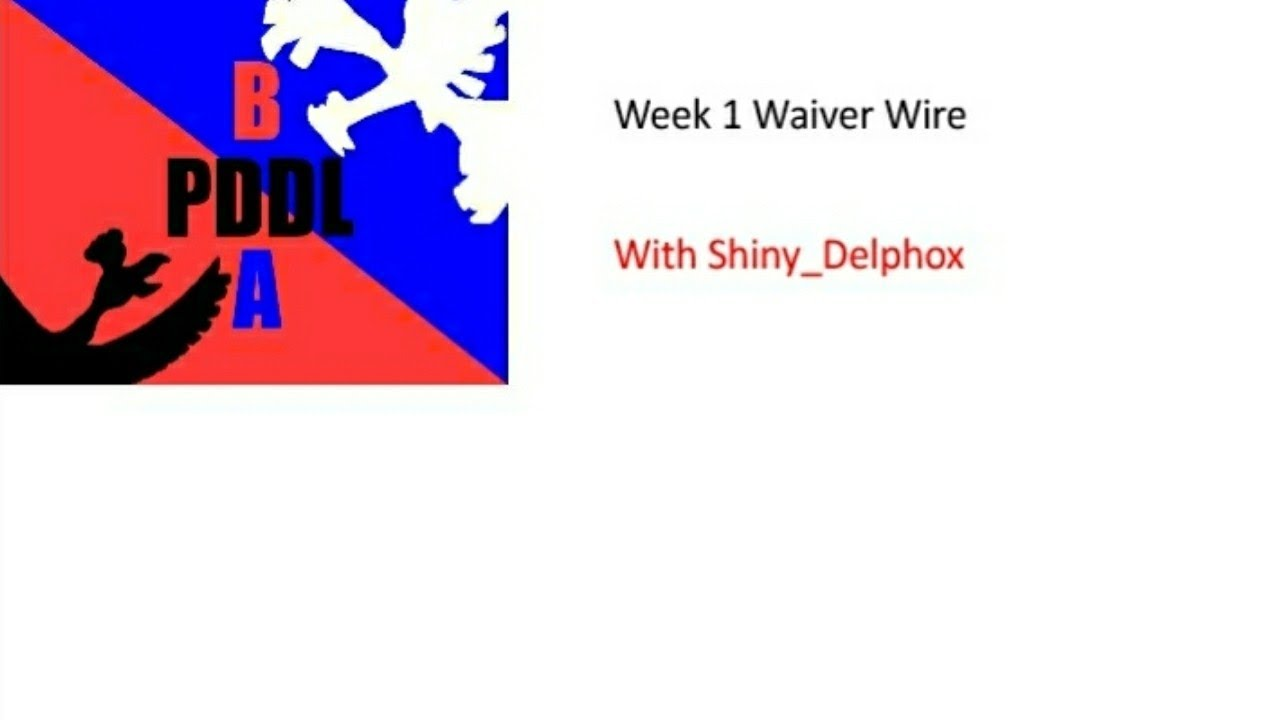 Nice Waiver Wire Week 10 Motif - Wiring Schematics and Diagrams ...