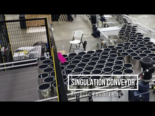 Depalletizing Robot & Singulation Conveyor Flyover | Autotec Solutions