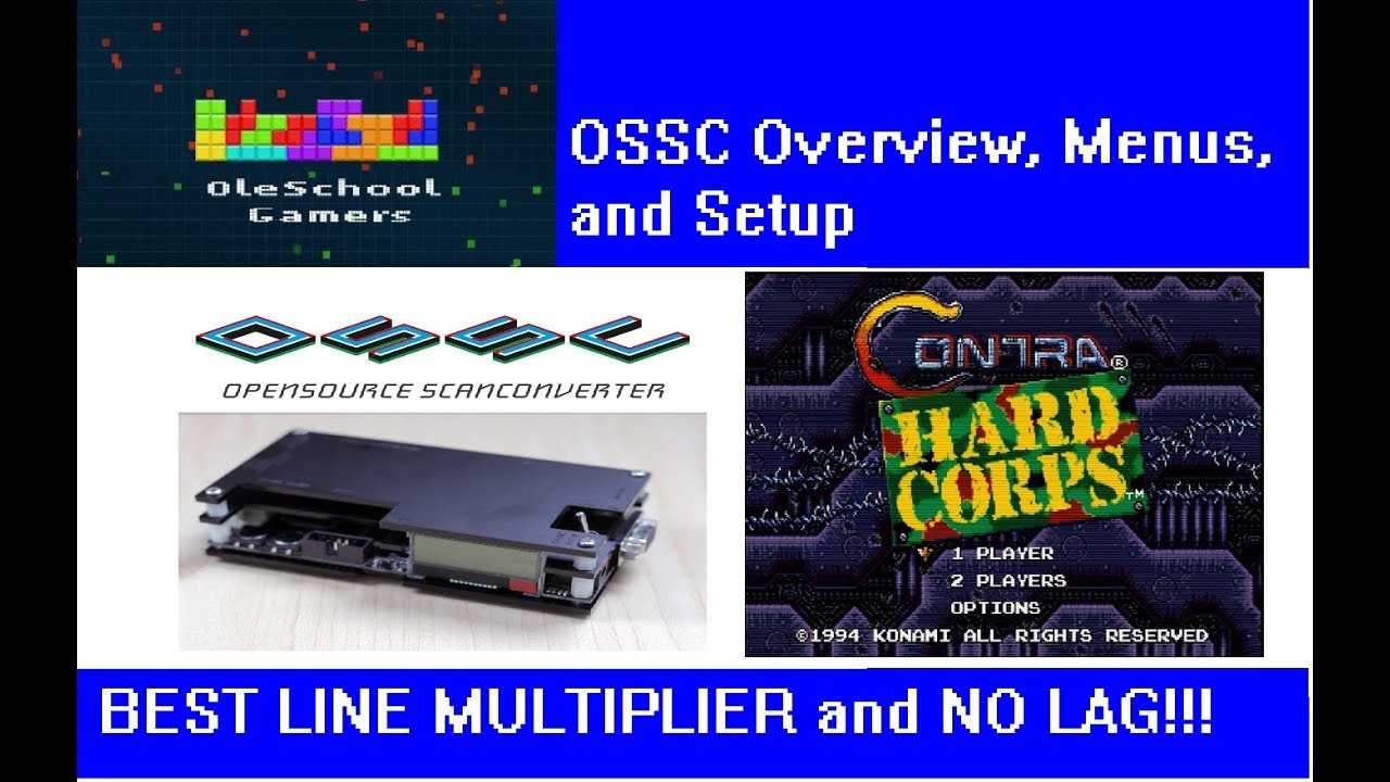 OSSC Unboxing, Menus, Setup, and test on Sega Genesis Contra Hardcorp with  Line 4x!