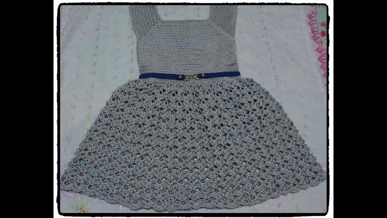 c2291f75ce4d Vestido annabel infantil feito em croche parte 3 final by Estúdio ...