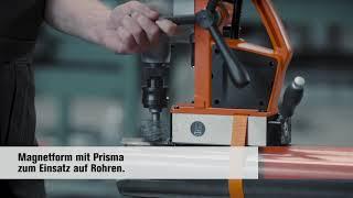 FEIN AKBU: Magnetform mit Prisma zum Einsatz auf Rohre.