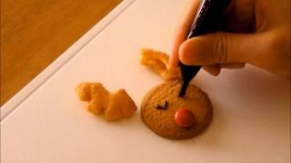 Christmas Reindeer Cookie Deco 簡単 クリスマス デコ クッキー トナカイ